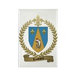 LOUVIERE Family Crest Rectangle Magnet