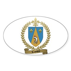 LOUVIERE Family Crest Oval Decal