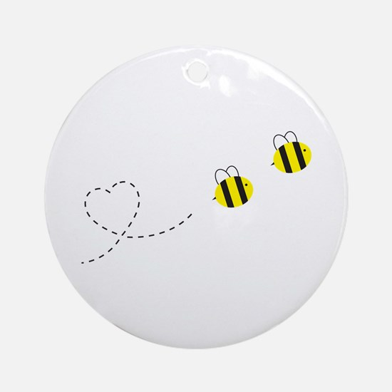 Bee in Love Ornament (Round)