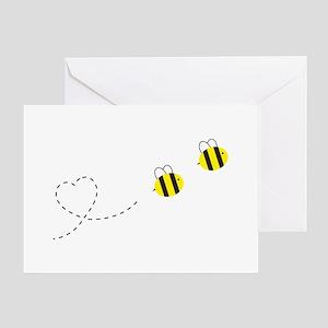 Bee in Love Greeting Card