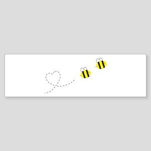 Bee in Love Sticker (Bumper)