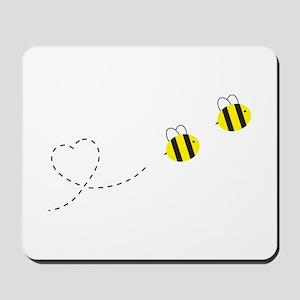 Bee in Love Mousepad