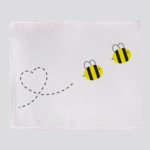 Bee in Love Throw Blanket