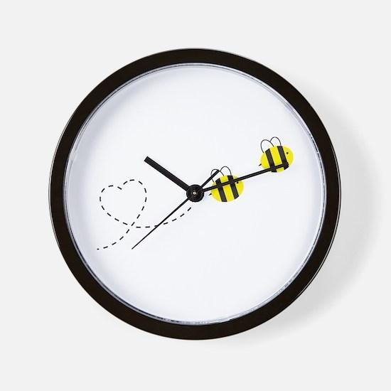 Bee in Love Wall Clock
