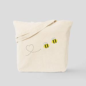Bee in Love Tote Bag