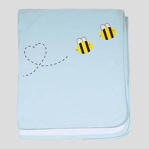 Bee in Love baby blanket