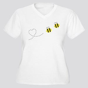 Bee in Love Women's Plus Size V-Neck T-Shirt