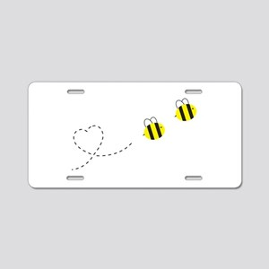Bee in Love Aluminum License Plate