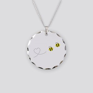 Bee in Love Necklace Circle Charm