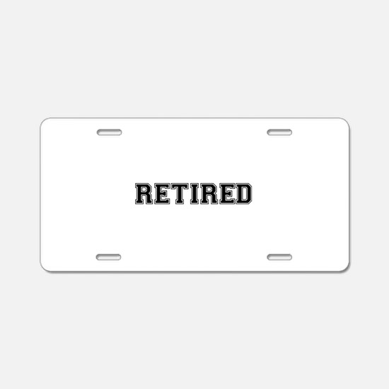 Retired Aluminum License Plate