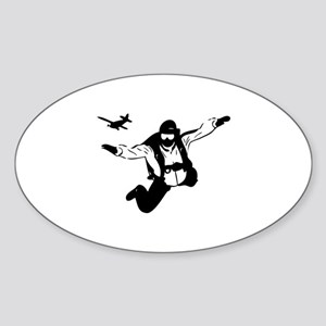 Skydiving Sticker (Oval)