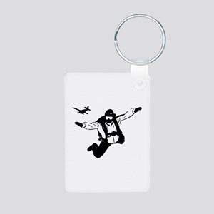 Skydiving Aluminum Photo Keychain