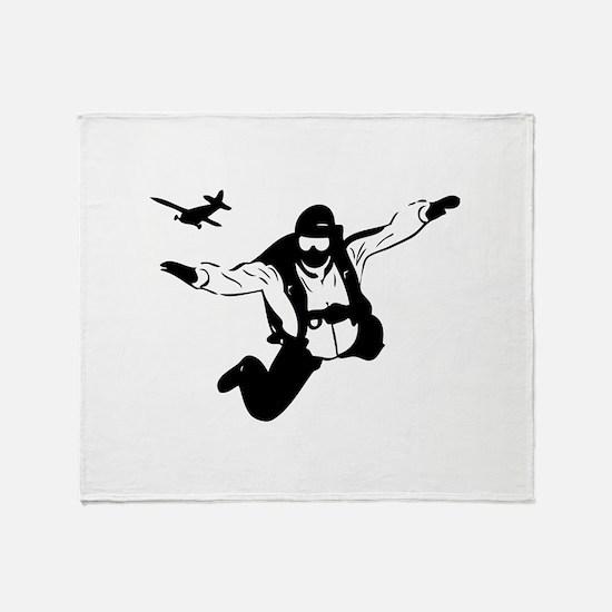 Skydiving Throw Blanket