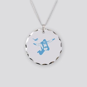 Skydiving Necklace Circle Charm