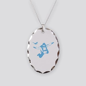 Skydiving Necklace Oval Charm