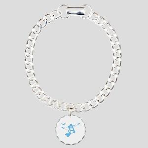 Skydiving Charm Bracelet, One Charm