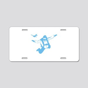 Skydiving Aluminum License Plate