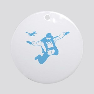 Skydiving Ornament (Round)