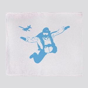 Skydiving Throw Blanket