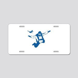 Skydiving Aluminum License Plate