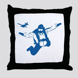 Skydiving Throw Pillow