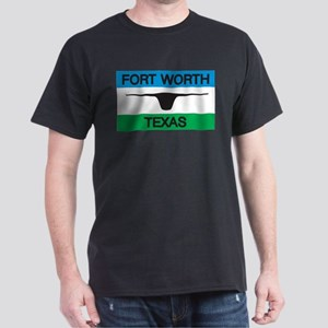 Fort Worth Flag Black T-Shirt