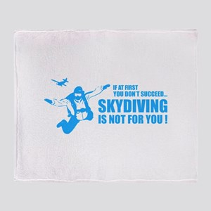 Skydiving is not for you ! Throw Blanket