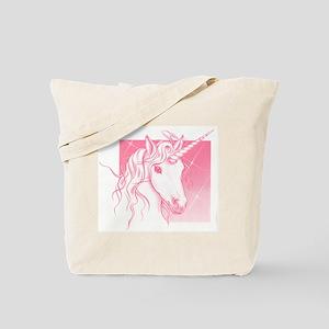 1 Pink Unicorn Tote Bag
