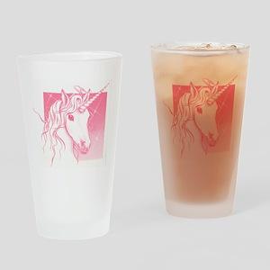 1 Pink Unicorn Drinking Glass