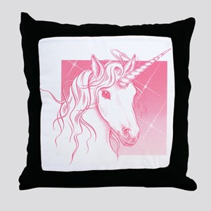 1 Pink Unicorn Throw Pillow