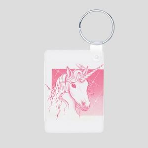 1 Pink Unicorn Aluminum Photo Keychain
