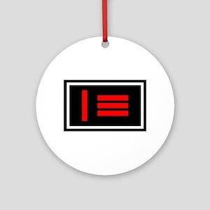 Master/slave Dom/sub Pride Flag Ornament (Round)