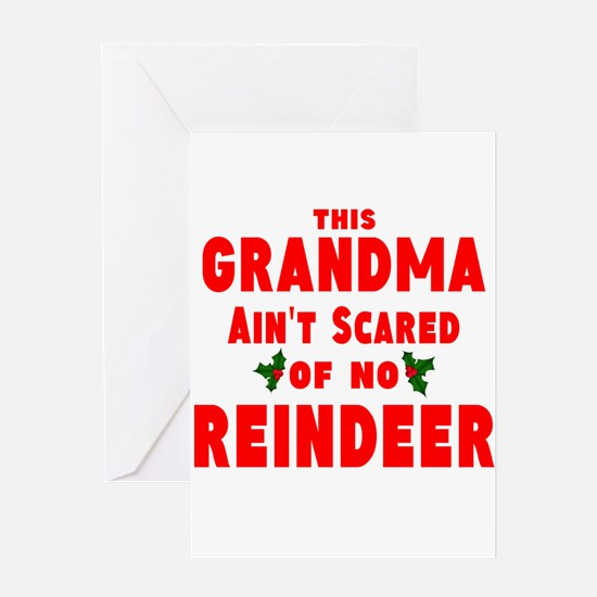 Grandma Got run over Greeting Card