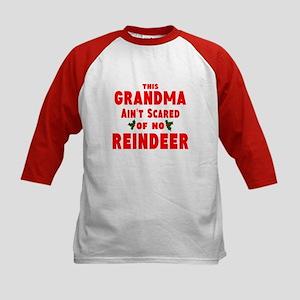 Grandma Got run over Kids Baseball Jersey