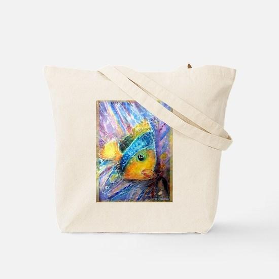 Fish, bright, nature, Tote Bag