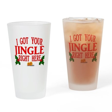 Jingle Bells Drinking Glass