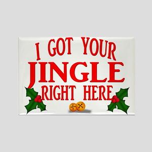 Jingle Bells Rectangle Magnet