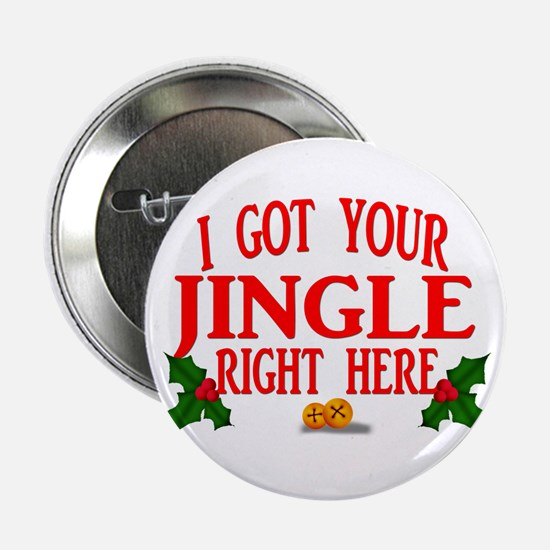"Jingle Bells 2.25"" Button"