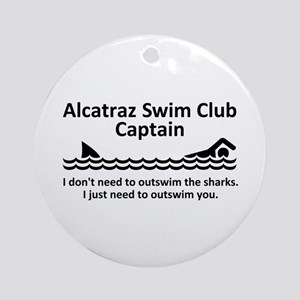 Alcatraz Swim Club Captain Ornament (Round)