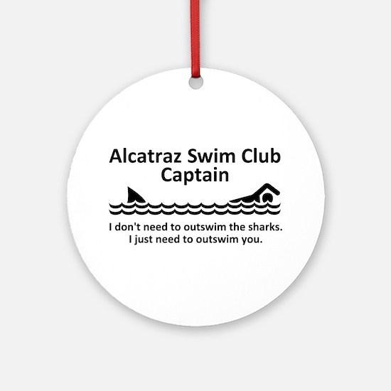 Alcatraz Swim Club Captain Ornament (Round)