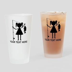 CUSTOMIZABLE REEL GIRL Drinking Glass
