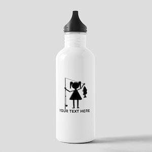 CUSTOMIZABLE REEL GIRL Stainless Water Bottle 1.0L