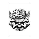 USN Veteran Skull Dont Tread Mini Poster Print