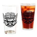 USN Veteran Skull Dont Tread Drinking Glass