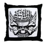 USN Veteran Skull Dont Tread Throw Pillow