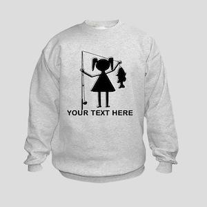 CUSTOMIZABLE REEL GIRL Kids Sweatshirt