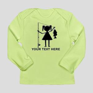 CUSTOMIZABLE REEL GIRL Long Sleeve Infant T-Shirt