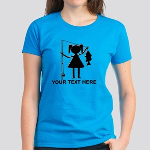 CUSTOMIZABLE REEL GIRL Women's Dark T-Shirt