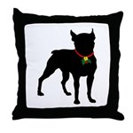 Christmas or Holiday Boston Terrier Silhouette Thr