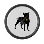 Christmas or Holiday Boston Terrier Silhouette Lar